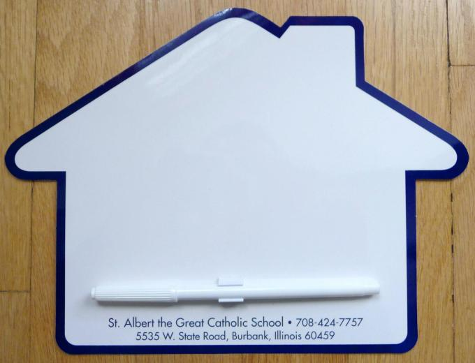 St Albert the Great School Dry Erase Board and Pen