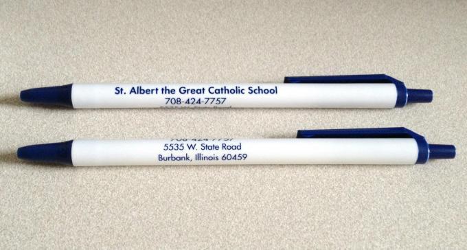 St Albert The Great School Bic Clic Stic Pens